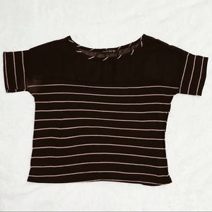 Black striped shirt